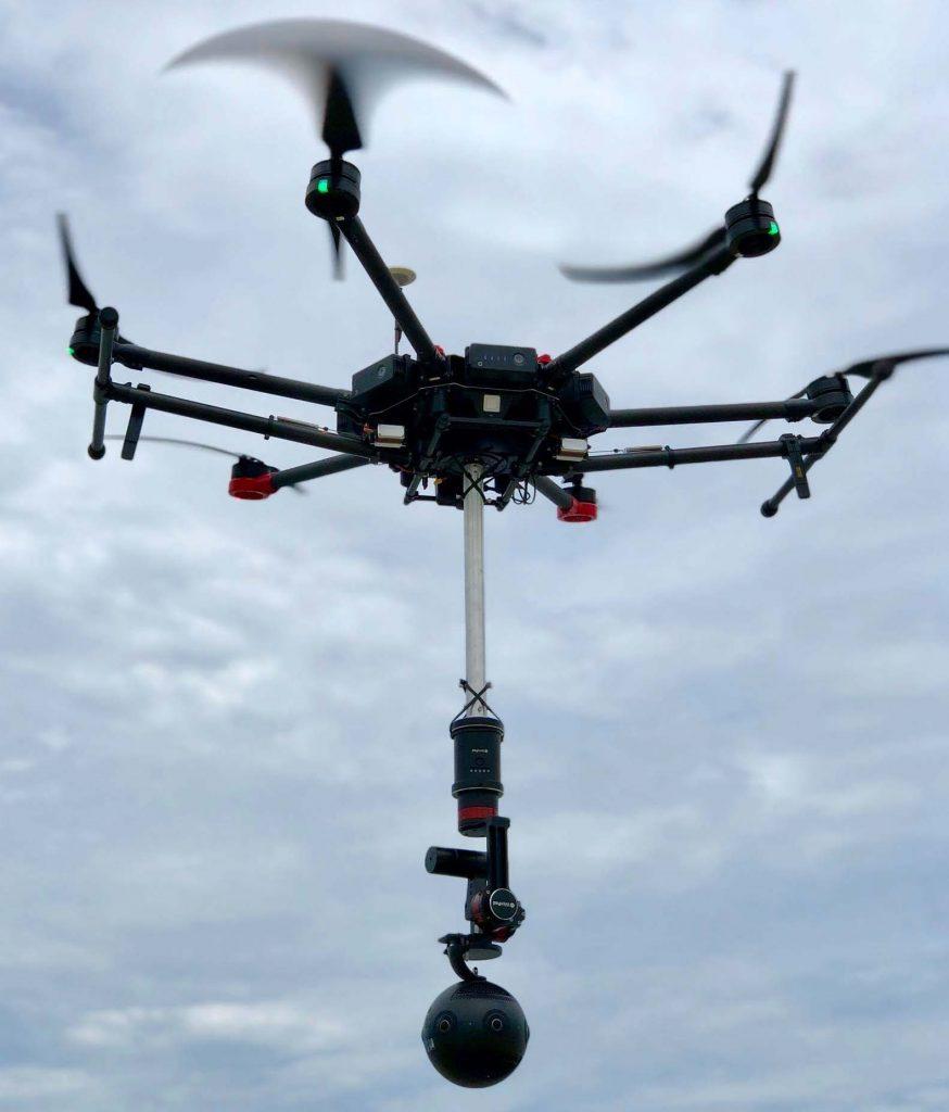 Thiết bị bay flycam quay phim 360 độ trên không