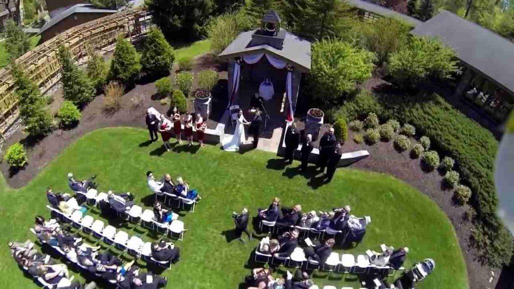 Toàn cảnh tiệc cưới được chụp bằng flyam