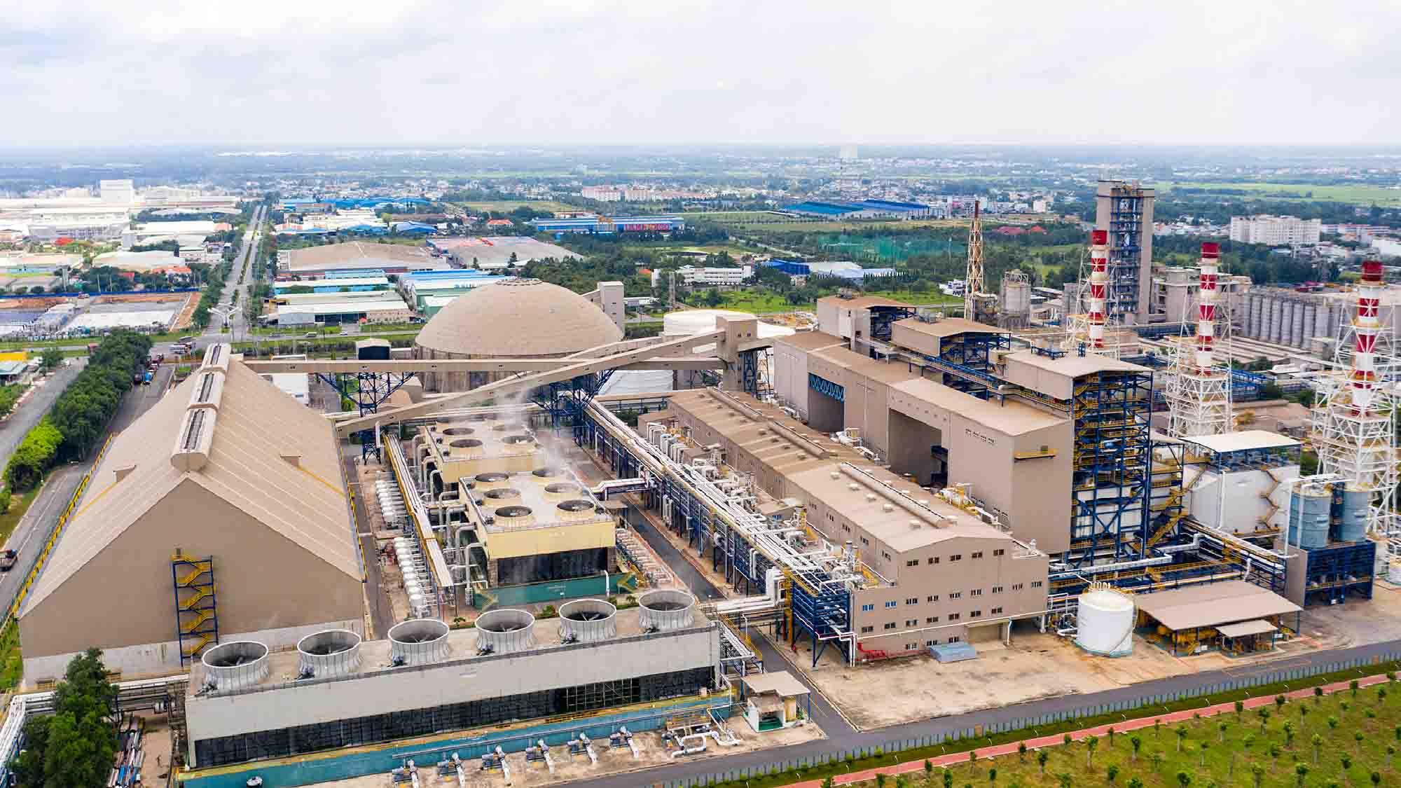 hình bằng flycam khu công nghiệp Fomosa Nhơn Trạch