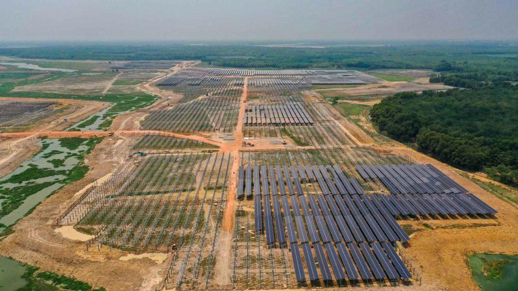 dự án điện năng lượng tại Tây Ninh chụp bằng flycam chuyên nghiệp